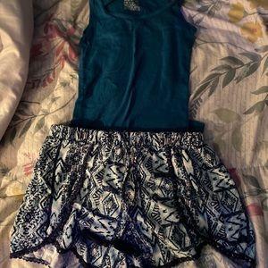 Shorts and tank top